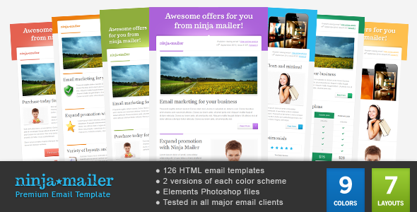 Magical Email Template By Gifky ThemeForest - Promotional mailer template