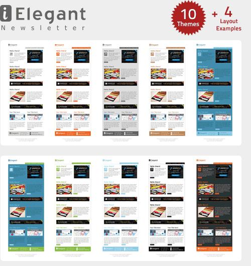i-Elegant Newsletter - 10 Themes - Gifky.com